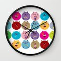 Cute bunnyballs Wall Clock