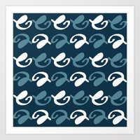 Night pattern Art Print