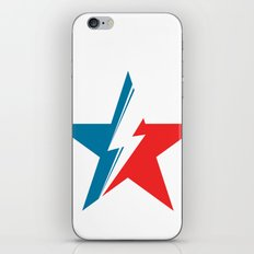 Bowie Star white iPhone & iPod Skin