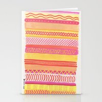Tribal#1 (Orange/Pink/Ye… Stationery Cards