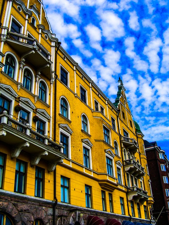 Swedish yellow facade  Art Print