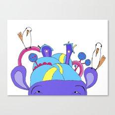 House on Hippo Canvas Print