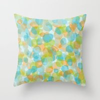Pebbles Turquoise Throw Pillow