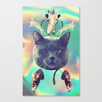 galactic Cats Saga 3 Canvas Print