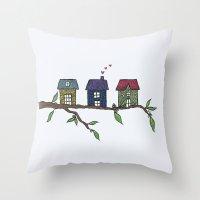 Treehouses Throw Pillow