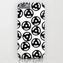 Discs Black and White iPhone & iPod Case
