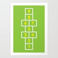 Hopscotch Green Art Print