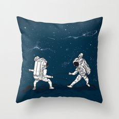 Fencing at a higher Level Throw Pillow