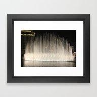 The Bellagio Fountains Framed Art Print