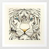 The White Tiger Art Print