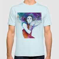 Colorful Girl  Mens Fitted Tee Light Blue SMALL