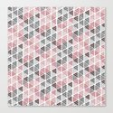 Diamond Floral Pattern Canvas Print