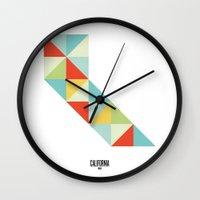 Geometric California Wall Clock