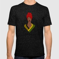 Erykah Mens Fitted Tee Tri-Black SMALL