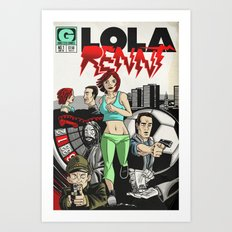 Bargain bin: Run Lola Run Art Print
