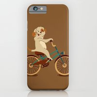 iPhone & iPod Case featuring Puppy on the bike by Tatiana Obukhovich