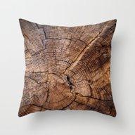 Knock On Wood Throw Pillow