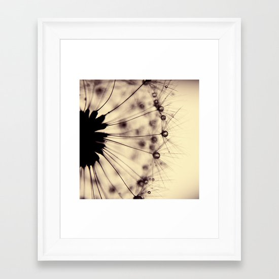 dandelion - droplets of mocha Framed Art Print