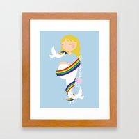 After lost, comes joy Framed Art Print