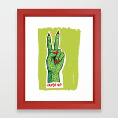 Hands Up Framed Art Print