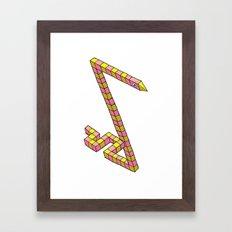 Snake Illusion Framed Art Print