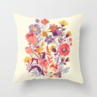 Throw Pillow featuring The Garden Crew by Teagan White