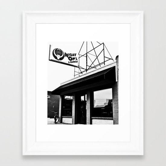 The Night Owl Framed Art Print