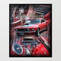 1969 Mustang Mach 1 CJ Canvas Print