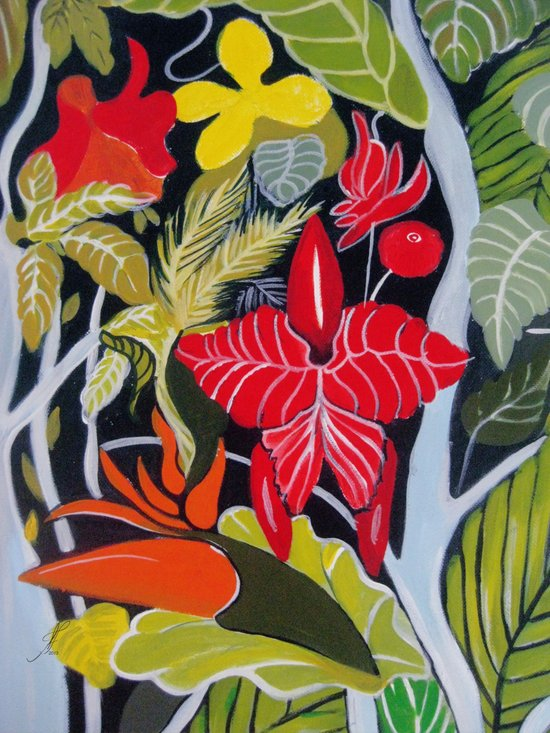 Paradise Flowers Art Print