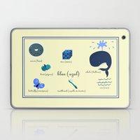 Colors: blue (Los colores: azul) Laptop & iPad Skin