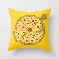 Pizza Vinyl Throw Pillow
