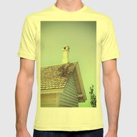 Summer Cottage Gable Roo… Mens Fitted Tee Lemon SMALL
