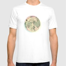Shape Mesh Mens Fitted Tee White SMALL