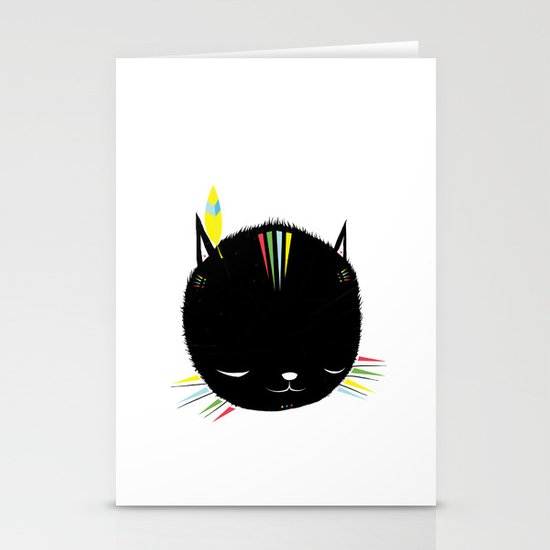 MIGHTY TIGARRR, BLACK KITTEN 묘 Stationery Card
