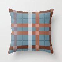 Urban Earth Tone Plaid  Throw Pillow