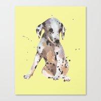 Lemon Dalmatian Canvas Print
