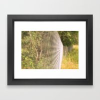 Field Fence Framed Art Print