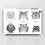 iPad Case featuring Caffeinated Owls by Dave Mottram