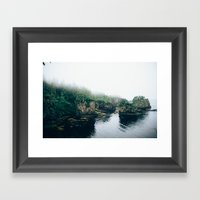 Cape Flattery Fog Framed Art Print