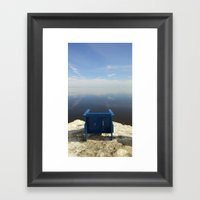The Blue Chair At The Se… Framed Art Print