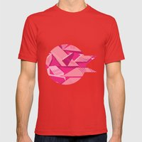 Pink Pattern Mens Fitted Tee Red SMALL