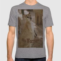 Smiling Kangaroo Mens Fitted Tee Athletic Grey SMALL