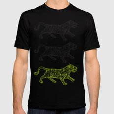 Three Tigers Mens Fitted Tee Black SMALL