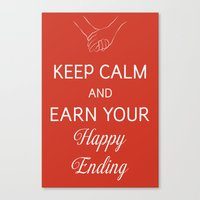 Earn Your Happy Ending Canvas Print