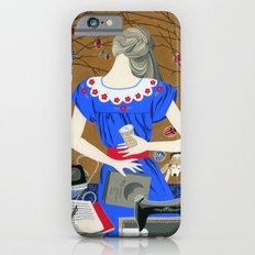 Lady in a blue dress iPhone 6 Slim Case