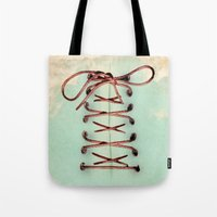 Lacing Up The Sky Tote Bag