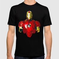 Polygon Heroes - Iron Ma… Mens Fitted Tee Black SMALL