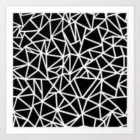 Abstract Outline Thick W… Art Print