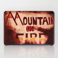 Mountain On Fire iPad Case