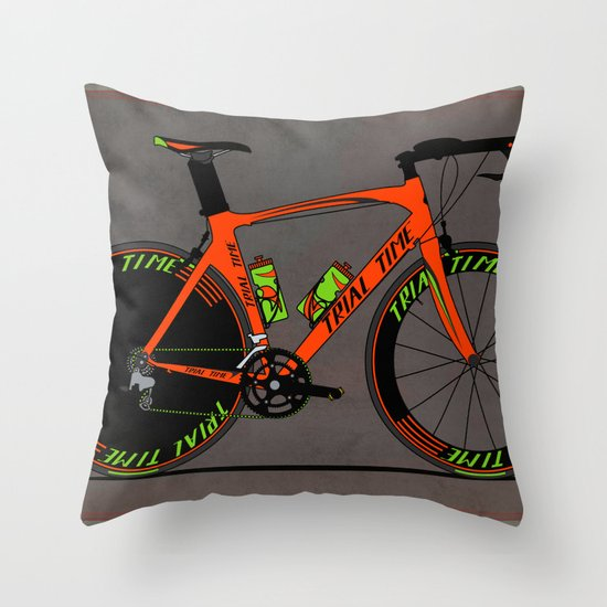 Time Trial Bike Throw Pillow